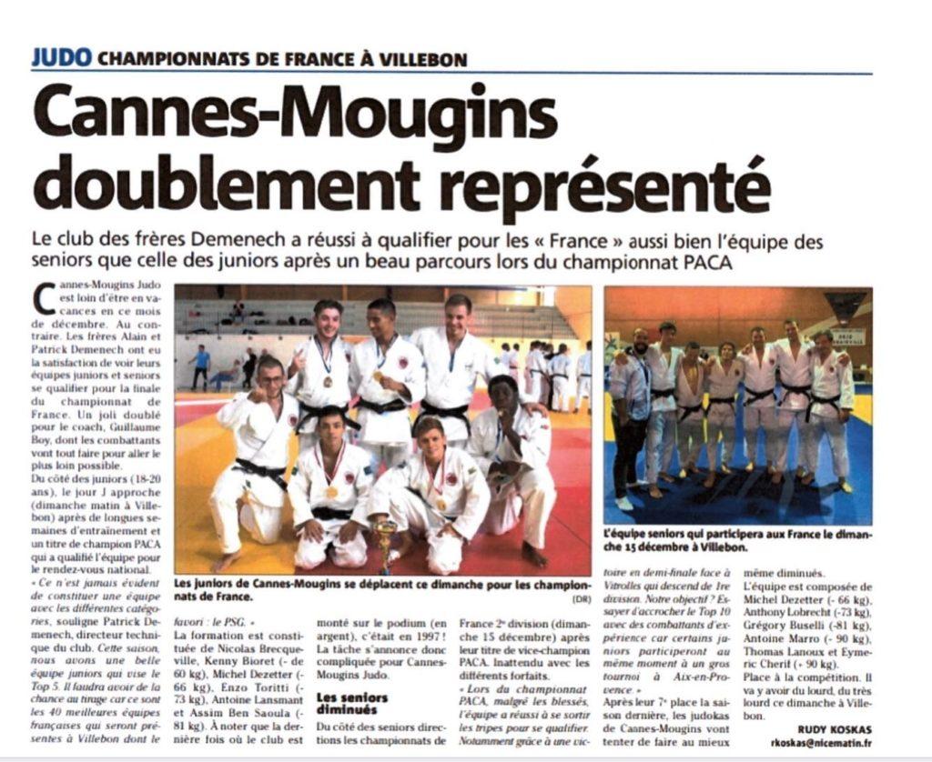 cannes mougins judo doublement represente