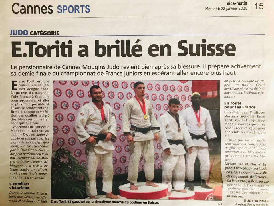 cannes mougins judo enzo toriti tournoi international de morges suisse